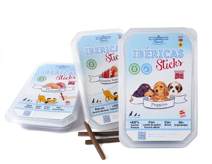 Ibéricas Sticks. Snack semihúmedo para perros