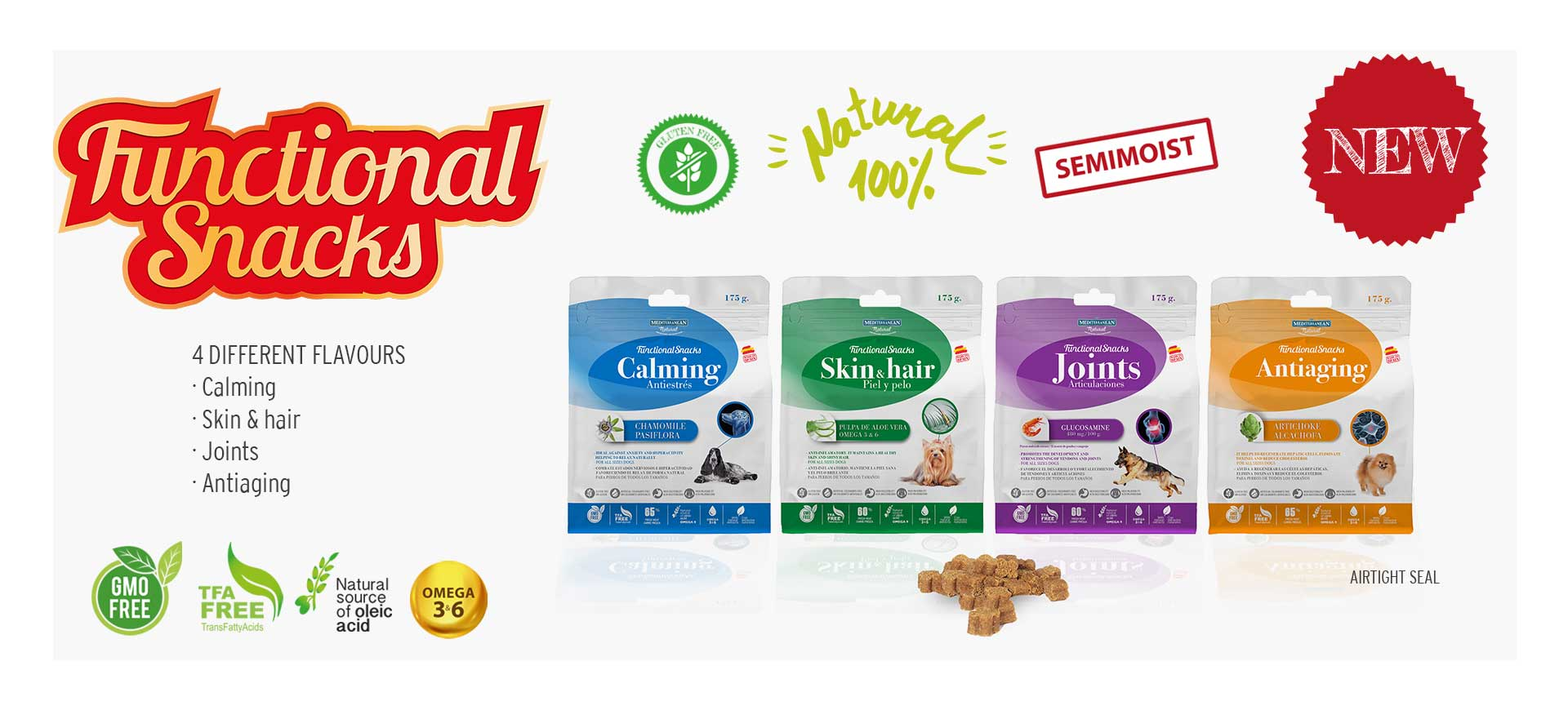 Functional Snacks Mediterranean Natural for dogs