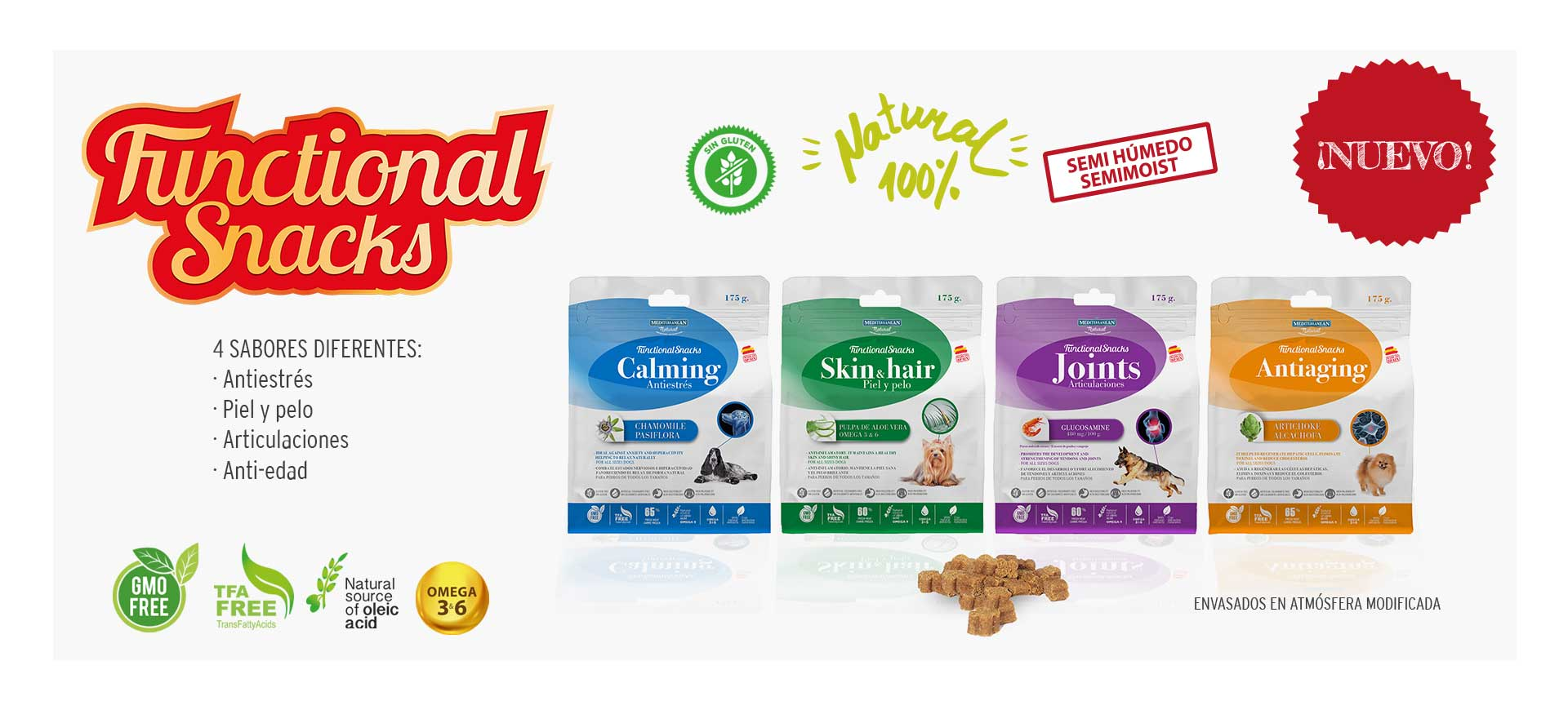 Functional Snacks Mediterranean Natural para perros
