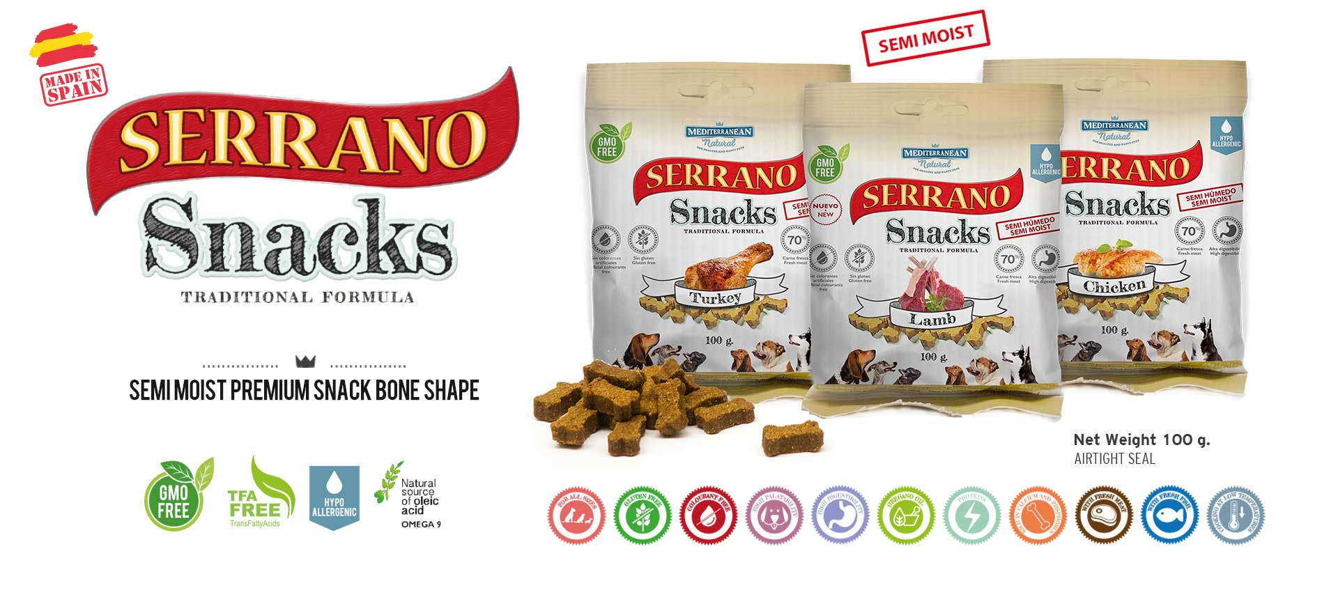 Serrano Snacks Mediterranean Natural for dogs