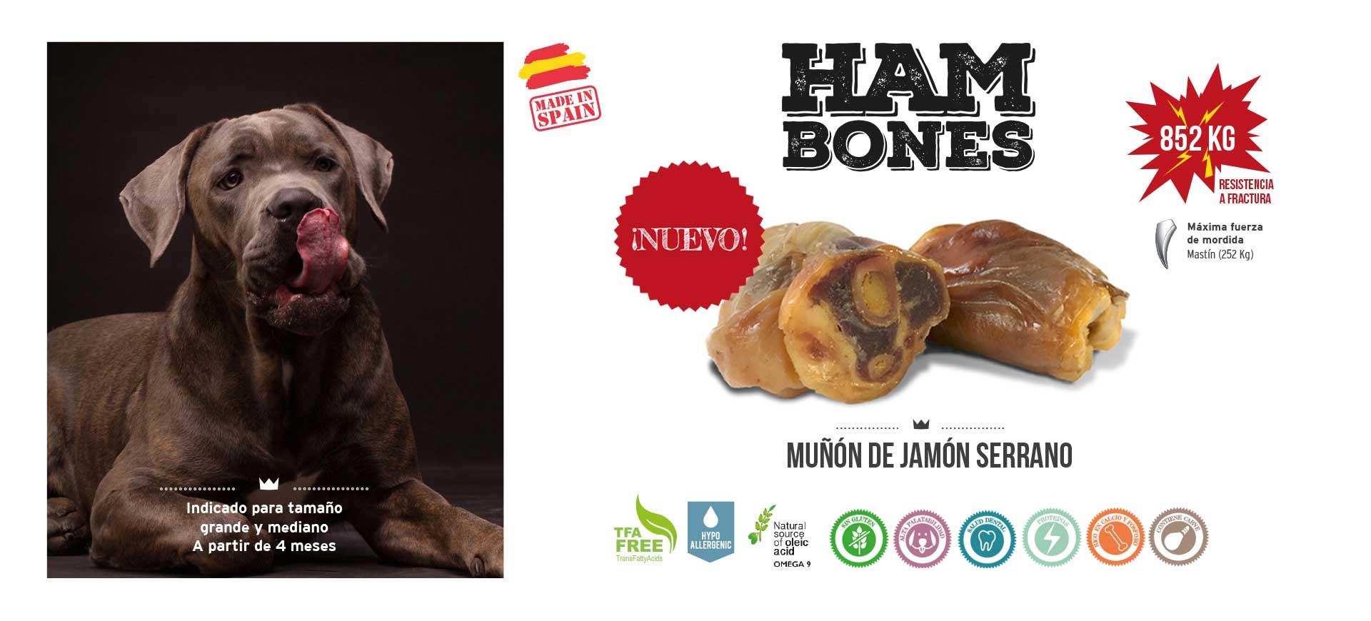 Slider muñón de jamón serrano para perros Mediterranean Natural