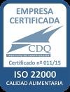 Mediterranean Natural es una Empresa certificada por la normativa ISO 22000:2005