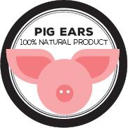 Icono orejas de cerdo para perros. Pig ears logo for dogs.