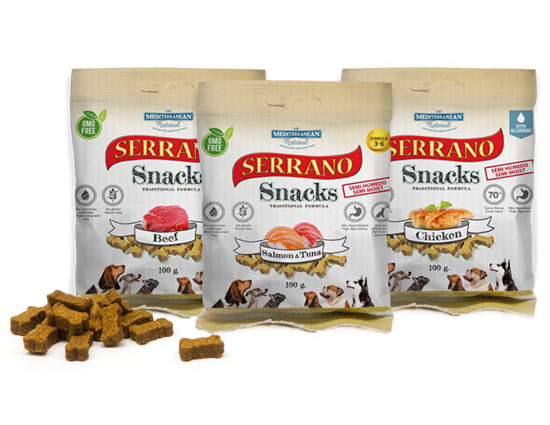 Serrano Snacks for dogs of Mediterranean Natural