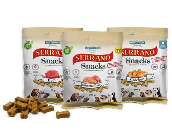 Serrano Snacks para perros de Mediterranean Natural