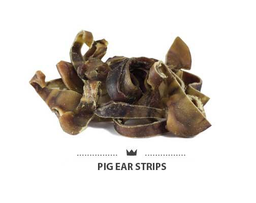 Tiras de oreja de cerdo para perros. Strips pig ears for dogs.