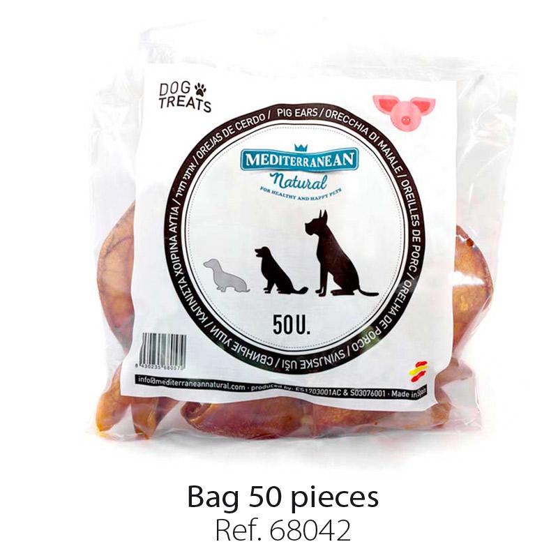 Orejas de cerdo para perros. Pig ears for dogs.
