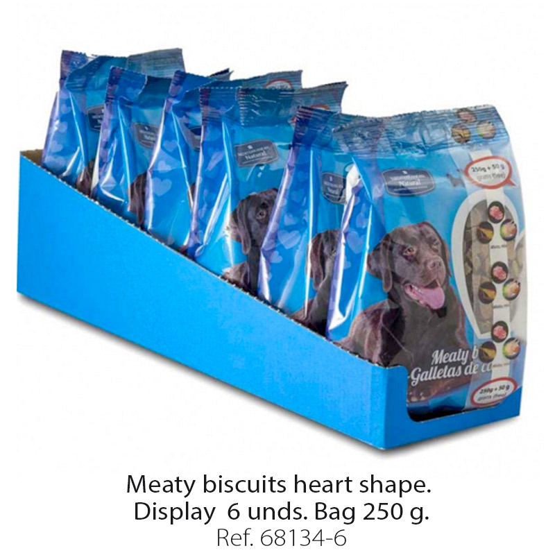 Meaty biscuits for dogs heart shape 6 bags 250 g