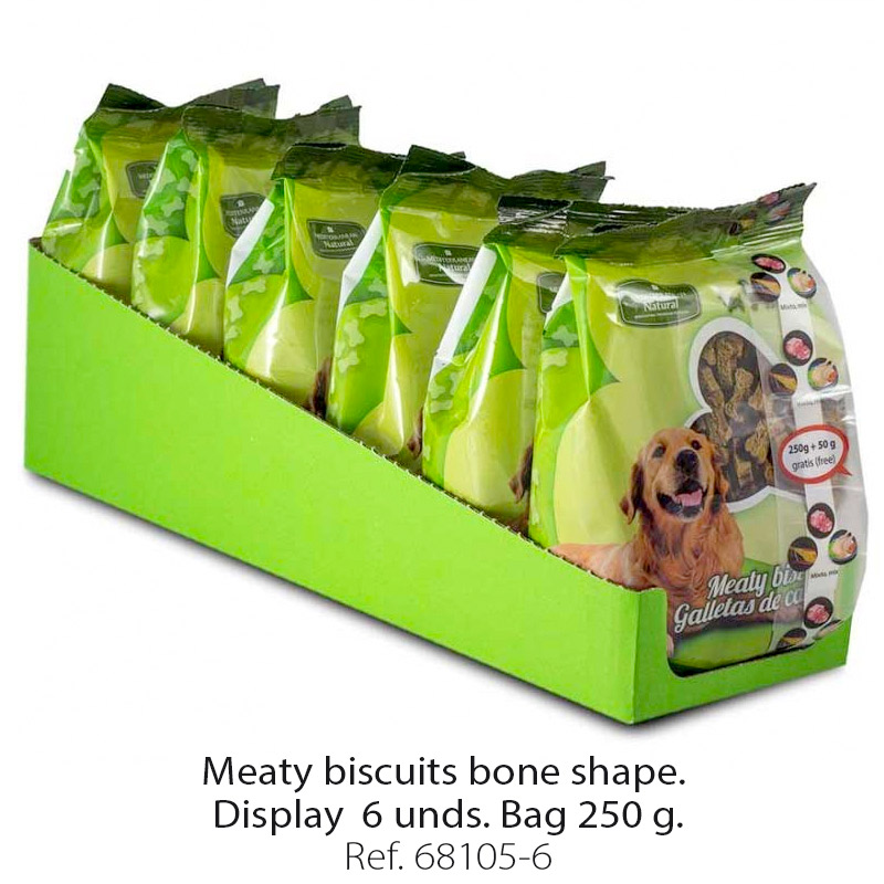 Meaty biscuits for dogs bone shape 6 bags 250 g