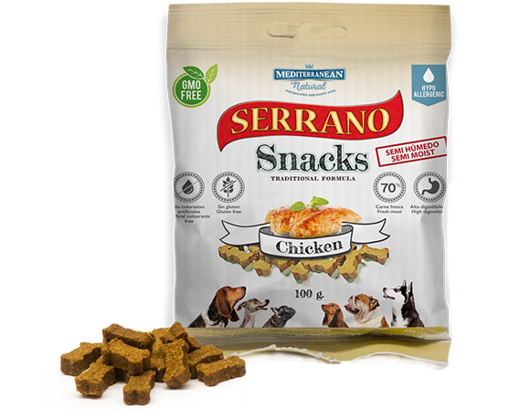 Serrano Snacks de Mediterranean Natural bolsita pollo-chicken