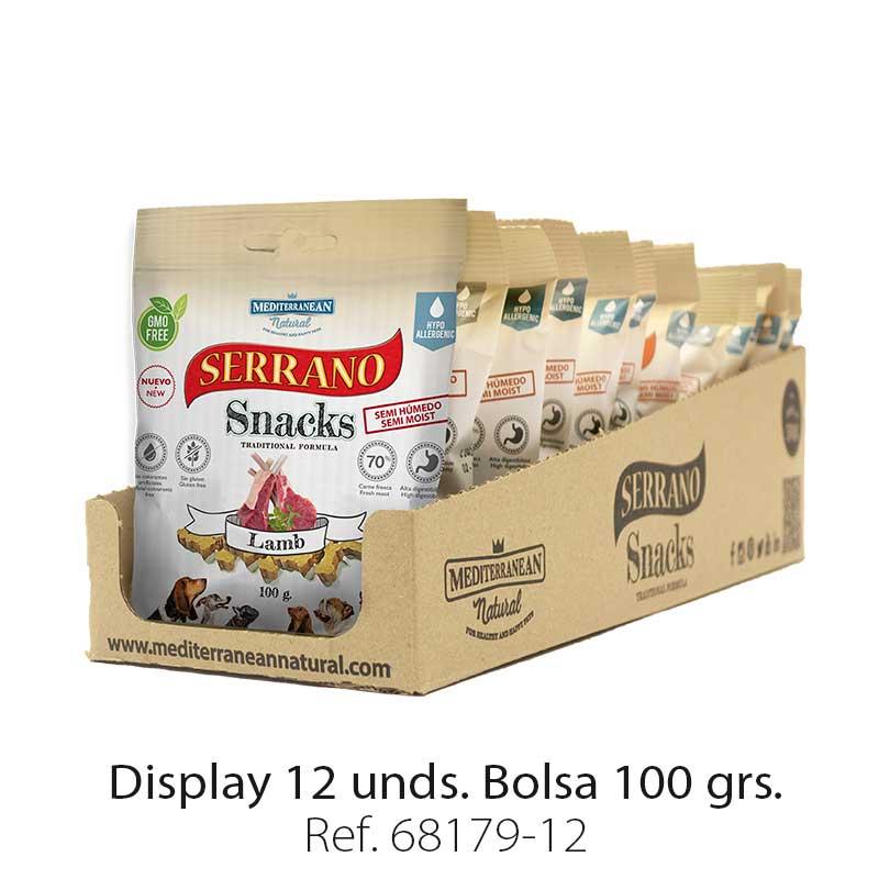 Serrano Snacks Mediterranean Natural cordero display 12 unidades