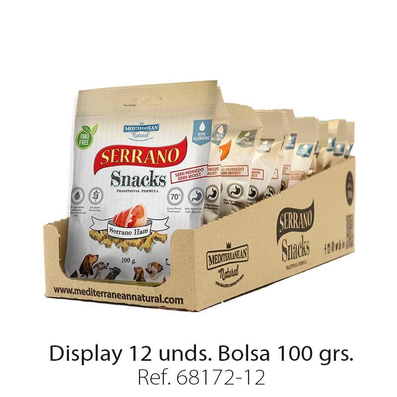 Serrano Snacks de Mediterranean Natural jamón serrano display 12 unidades