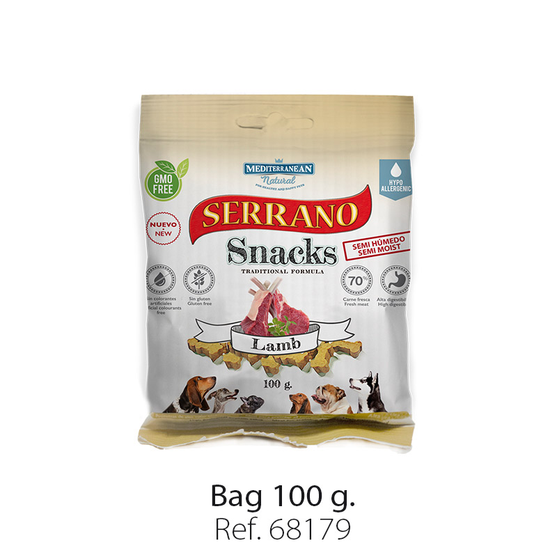 Serrano Snacks of Mediterranean Natural lamb bag 100 gr