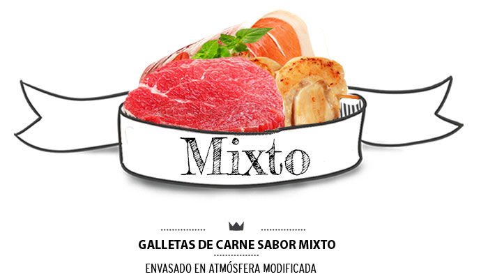 Galletas de carne mixtas para perros. Mixed meat biscuits for dogs.