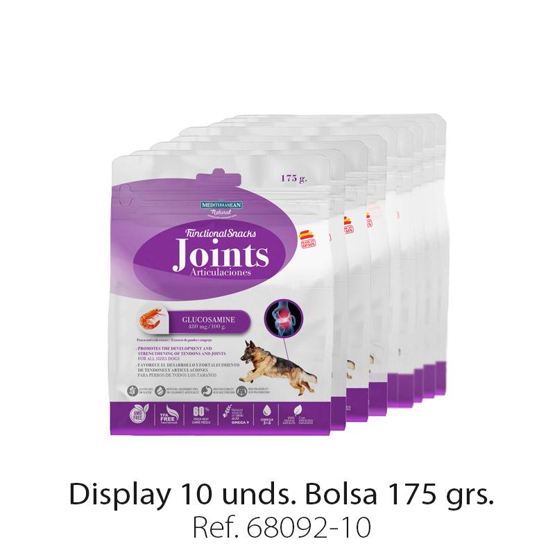 Display 10 unidades Functional Snacks Mediterranean Natural para perros articulaciones