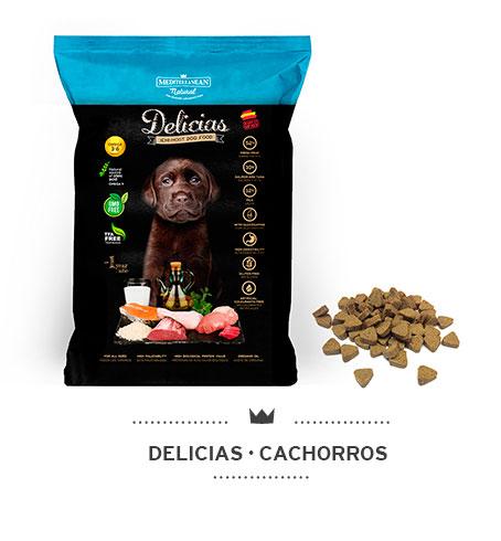 Delicias Mediterranean Natural: alimento semi húmedo para perros (cachorros)