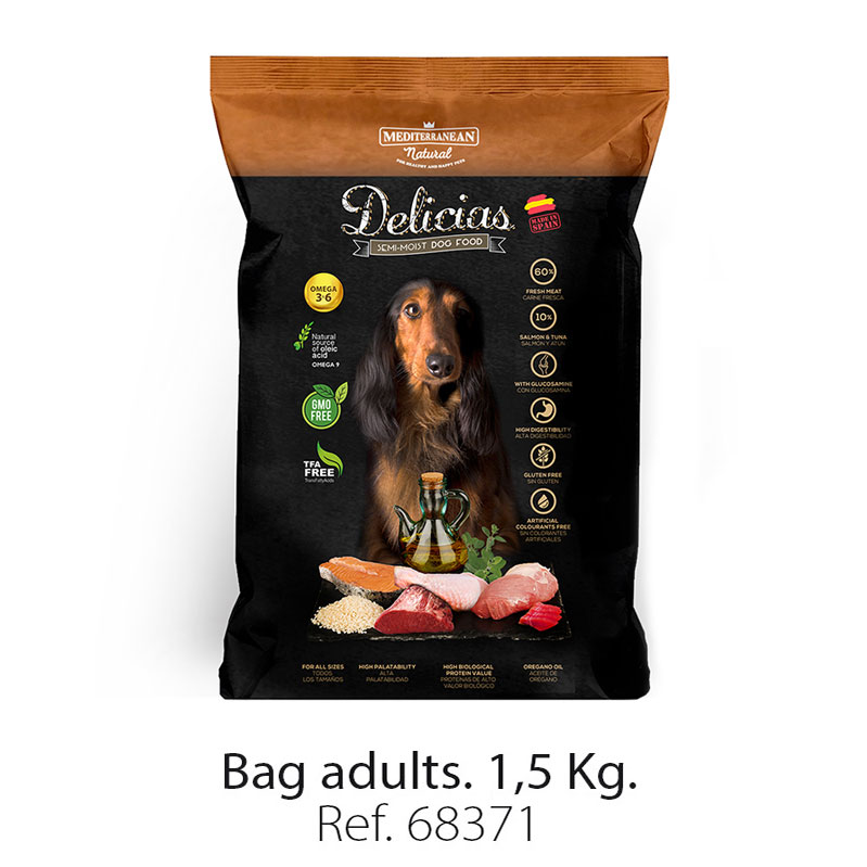 Delicias-Mediterranean-Natural-semi-moist-dog-food