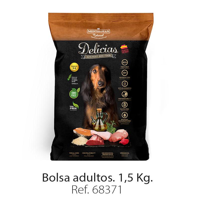 Delicias: alimento semi húmedo para perros