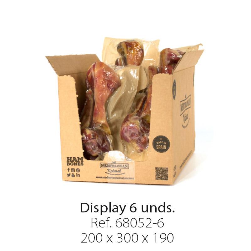 Medio hueso de jamón serrano para perros.