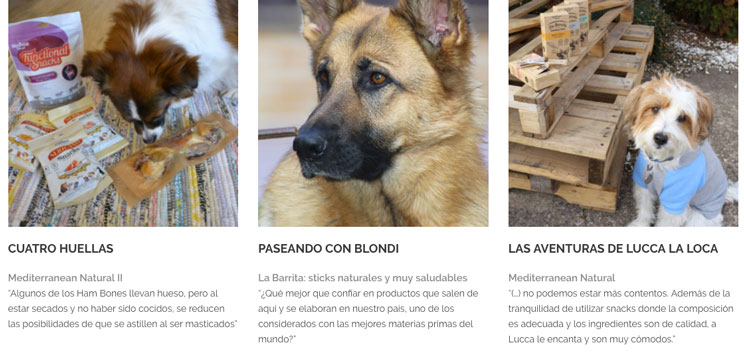 ¡Guau! Opiniones sobre los snacks y alimento para mascotas de Mediterranean Natural