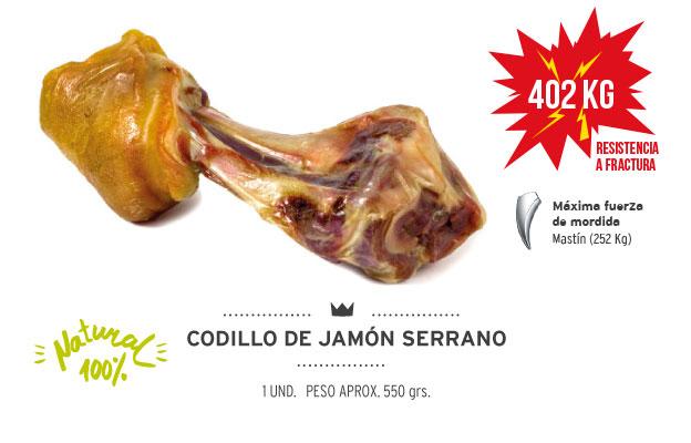 Codillo de jamón serrano Mediterranean Natural para perros. Resistencia a la fractura