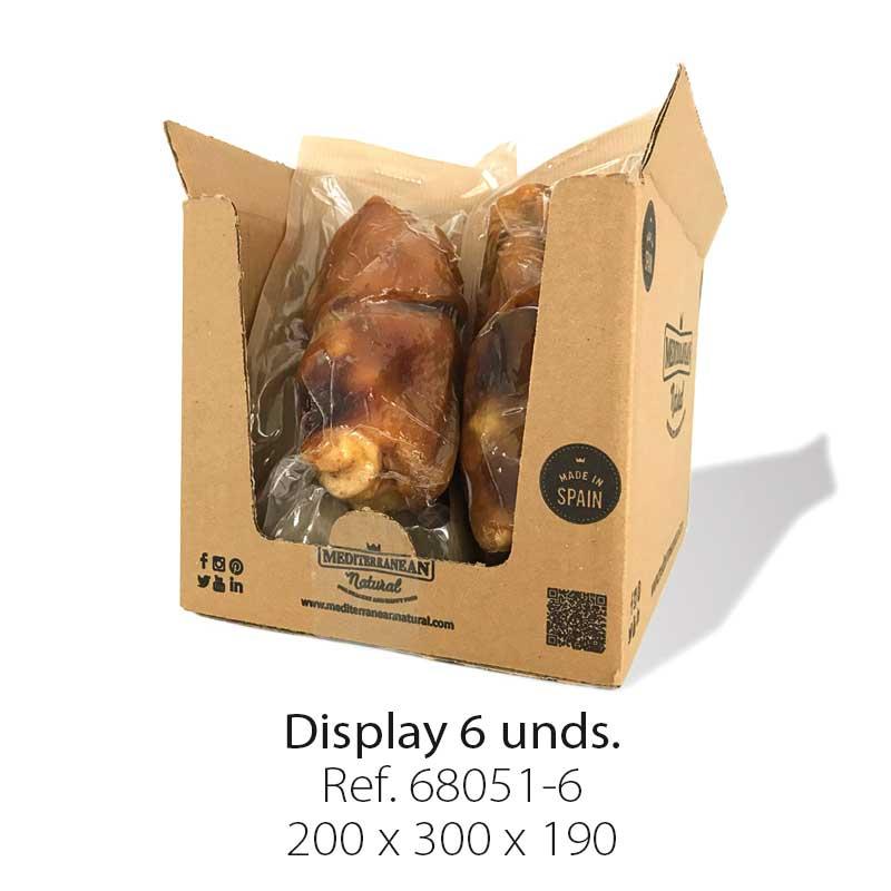 Display 6 muñones de jamón serrano para perros Mediterranean Natural