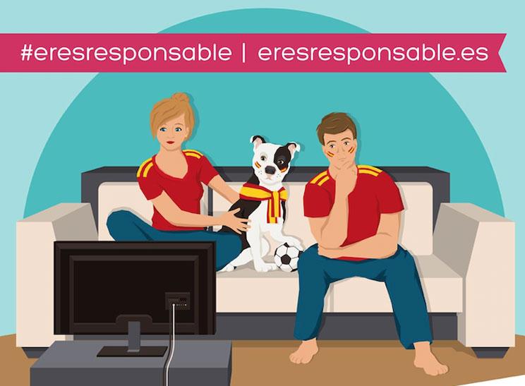 Si #EresResponsable y futbolero ¡Anima a La Roja con tu mascota!