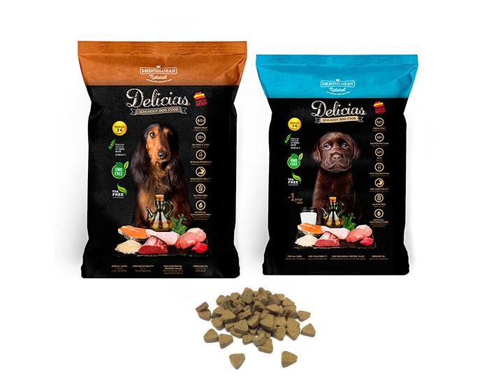 Delicias Mediterranean Natural: alimento para perros. Dog food