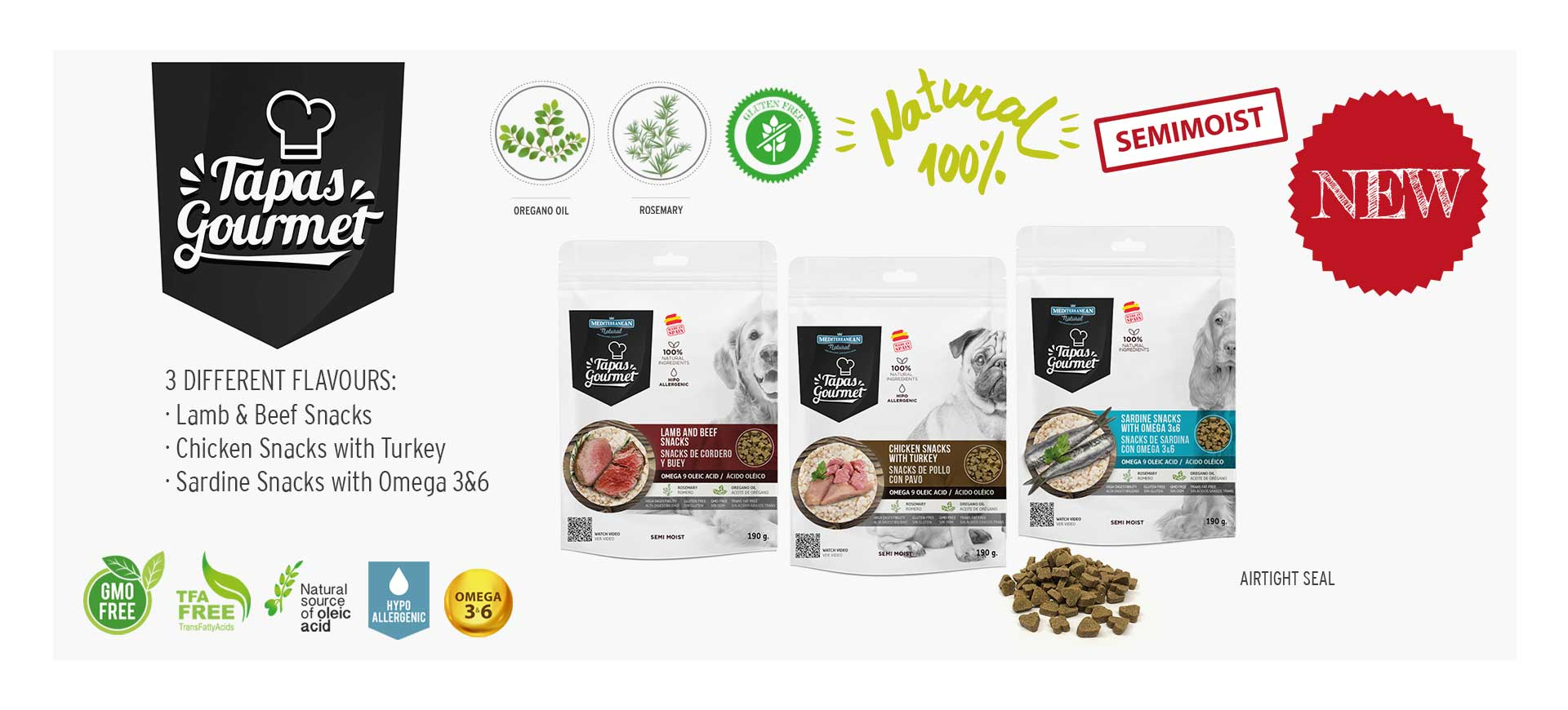 Tapas Gourmet Mediterranean Natural for dogs