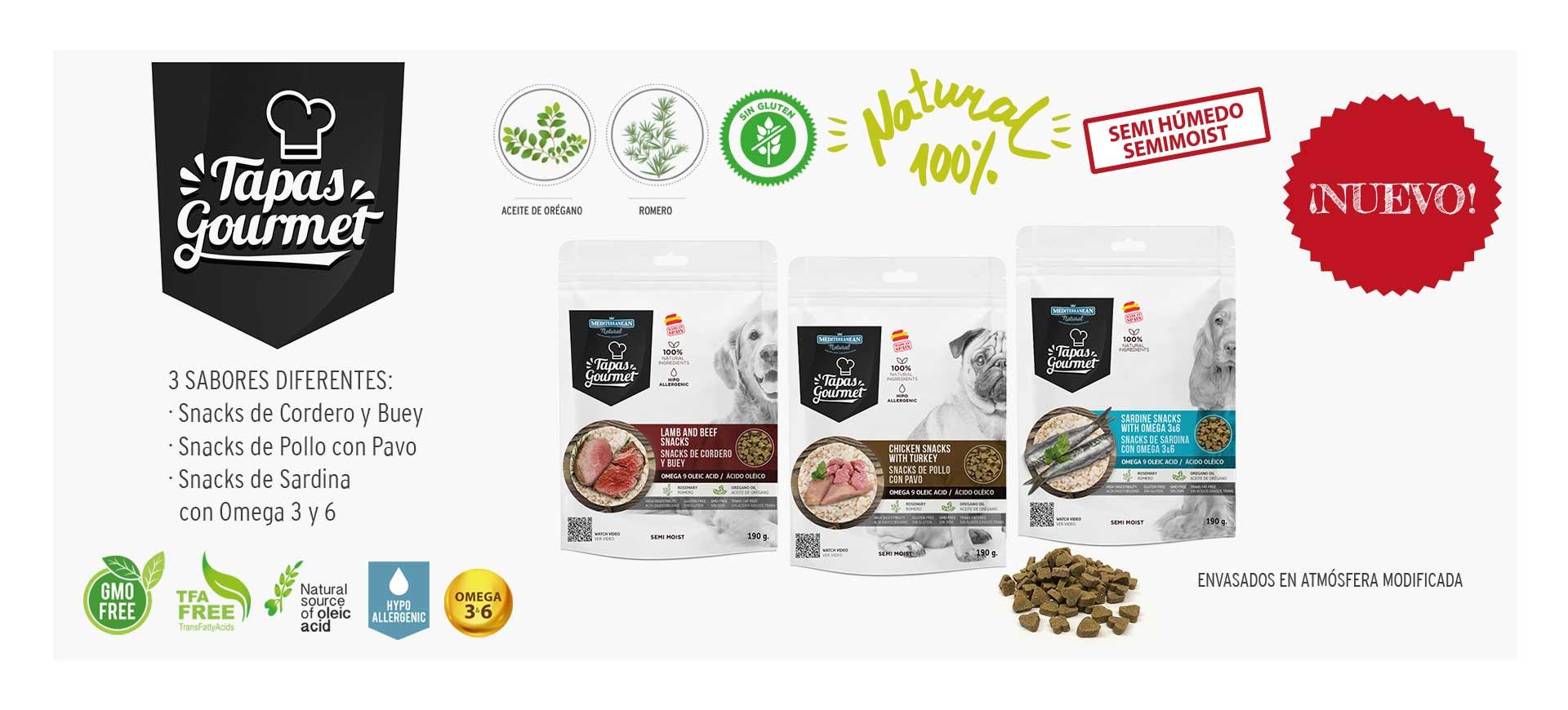 Tapas Gourmet Mediterranean Natural para perros