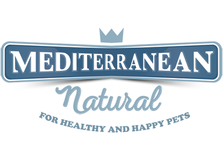 Logotipo de la marca de snacks para perros Mediterranean Natural