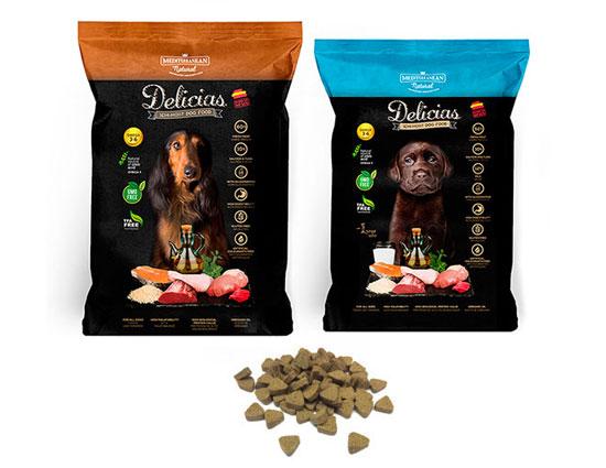 Delicias para perros: alimento semi húmedo de Mediterranean Natural