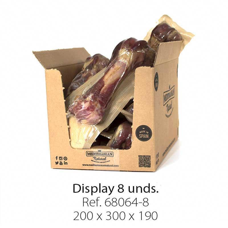 Display 8 unidades hueso de jamón serrano Mediterranean Natural para perros