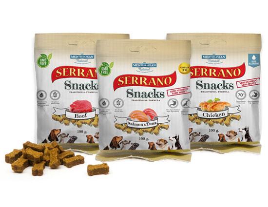 Serrano Snacks for dogs of Mediterranean Natural