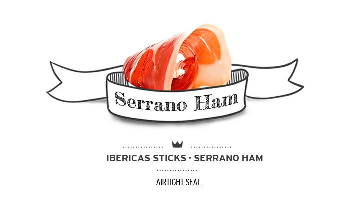 Barritas (ibéricas sticks) de jamón serrano para perros. Ham sticks for dogs.