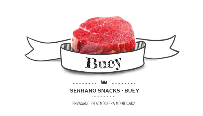 Serrano snacks de buey (ternera) para perros. Beef serrano snacks for dogs.
