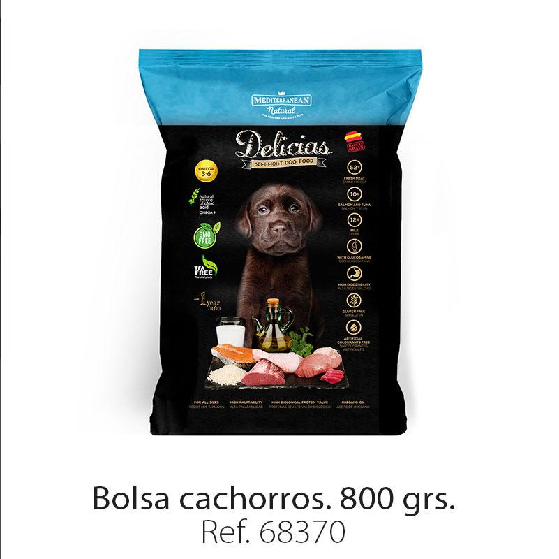 Delicias: alimento semi húmedo para cachorros