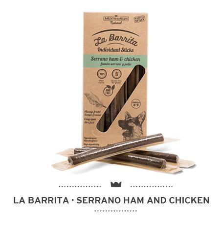La-Barrita-of-Mediterranean-Natural-for-dogs-serrano-ham-and-chicken-sticks