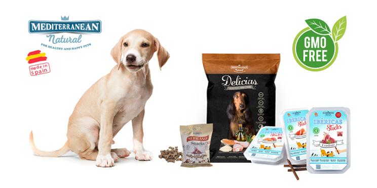 Snacks y alimento para perros sin transgénicos