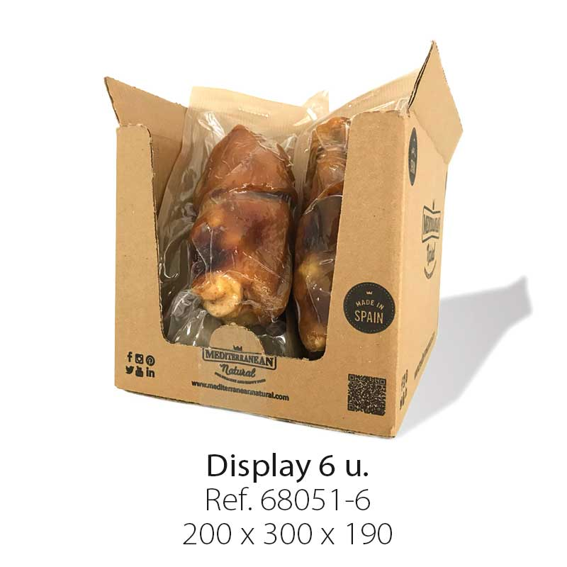 Half mega meaty Ham Bone Mediterranean Natural for dogs. Display 6 pieces