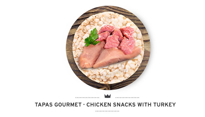 Snacks with chicken and turkey for dogs of Mediterranean Natural