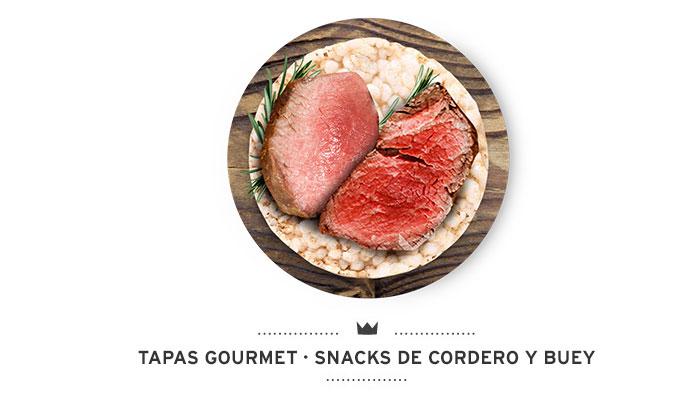 Tapas Gourmet de Mediterranean Natural para perros cordero, buey y arroz