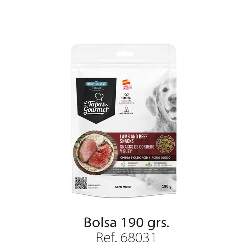 Tapas Gourmet de Mediterranean Natural para perros buey y cordero