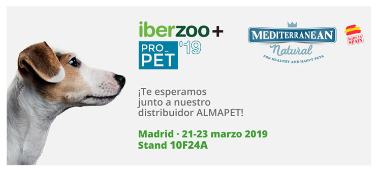 Mediterranean Natural expondrá en Iberzoo+Propet 2019