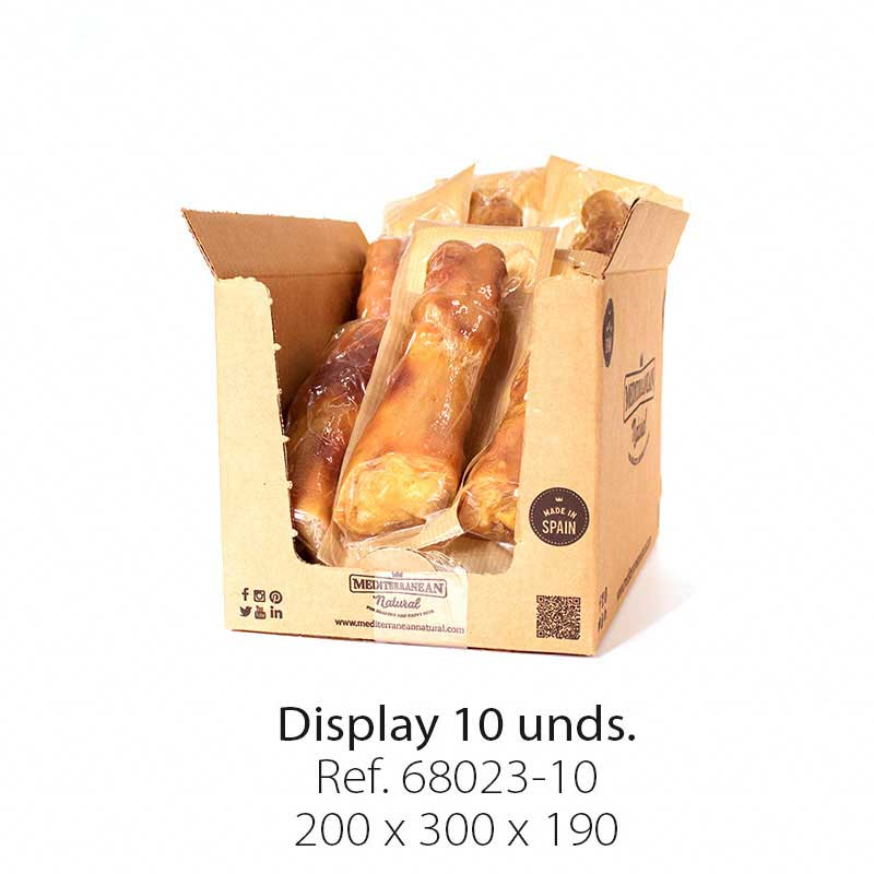Display 10 unidades pata de jamón serrano Mediterranean Natural para perros