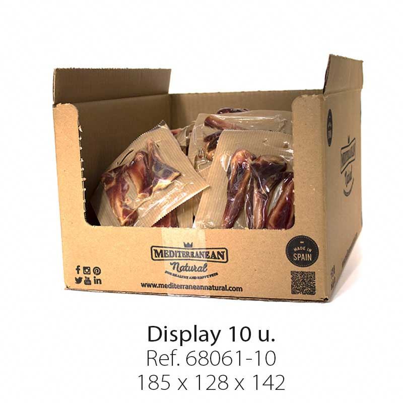 Display 10 units Serrano mini ham bone Mediterranean Natural for dogs