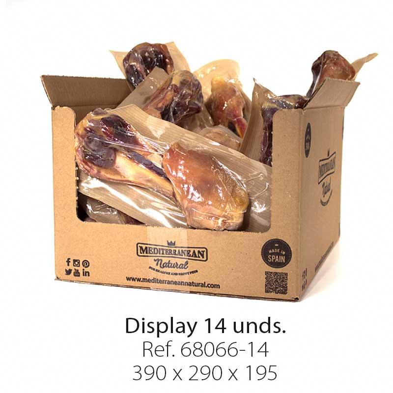 Display 14 unidades codillo de jamón serrano Mediterranean Natural para perros