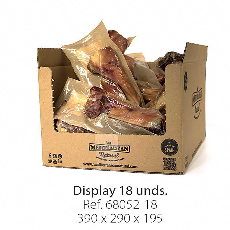 Display 18 unidades medio hueso de jamón serrano Mediterranean Natural para perros