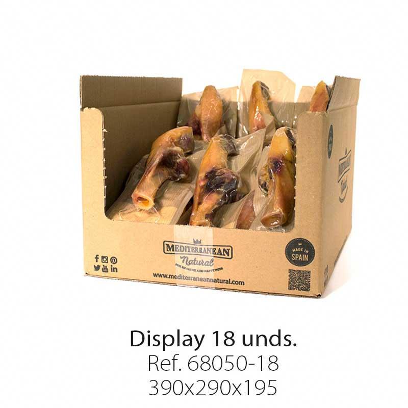 Display 18 unidades medio hueso de jamón serrano con brocheta Mediterranean Natural para perros