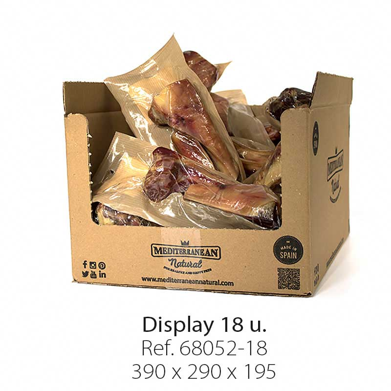Display 18 units Serrano half ham Bone Mediterranean Natural for dogs